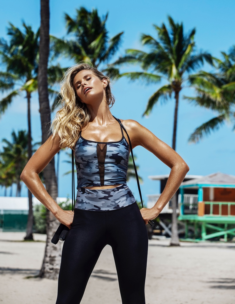 An image from Guess' activewear summer 2020 campaign.
