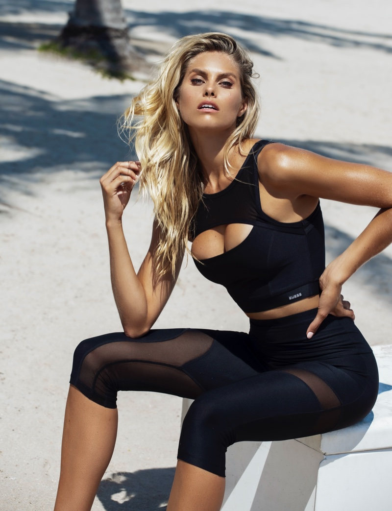 Guess showcases activewear summer 2020 styles.