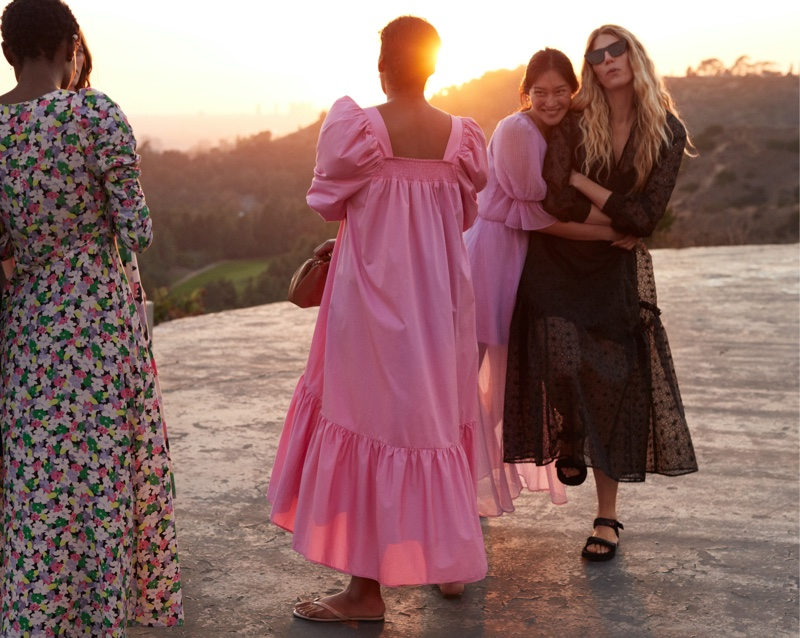 Models wear designs from H&M Conscious summer 2020 collection.