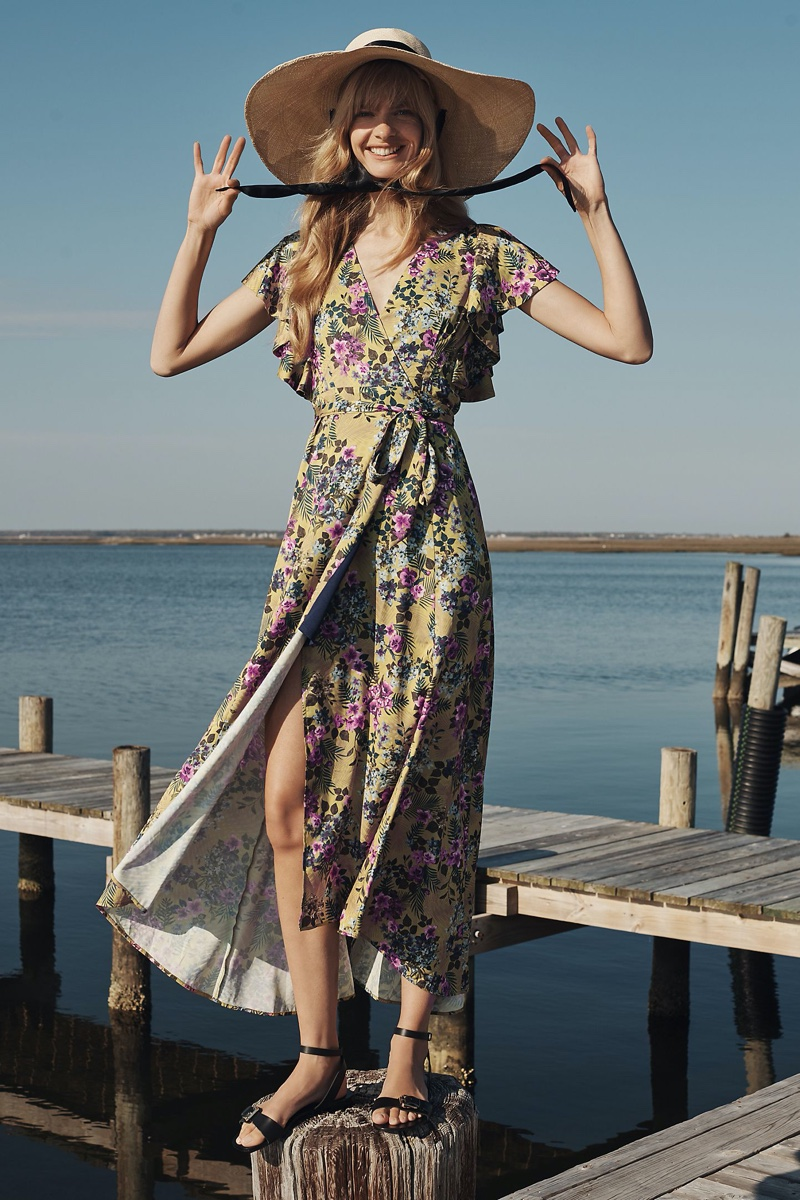 Hutch Pietrina Wrap Maxi Dress $188