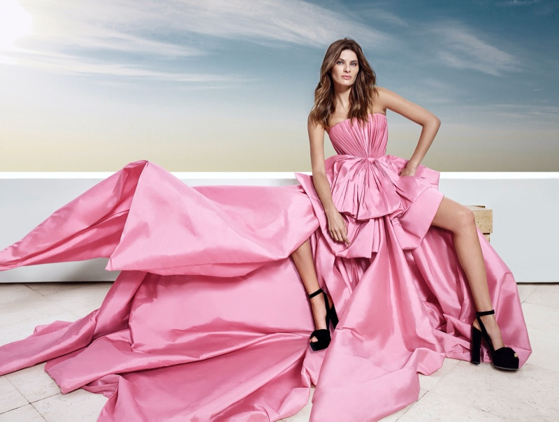 Isabeli Fontana stars in Ali Younes Couture campaign.