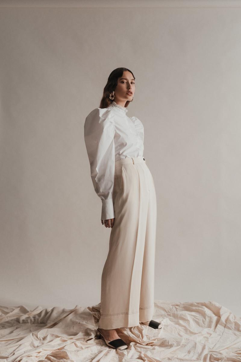 Jennifer Farwer Poses in Sophisticated Looks for Harper's Bazaar Ukraine