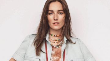 Josephine le Tutour Tries On Tie-Dye Prints for Elle Italy