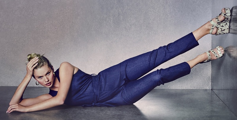 Rocking a jumpsuit, Josie Canseco fronts Vince Camuto spring-summer 2020 campaign.