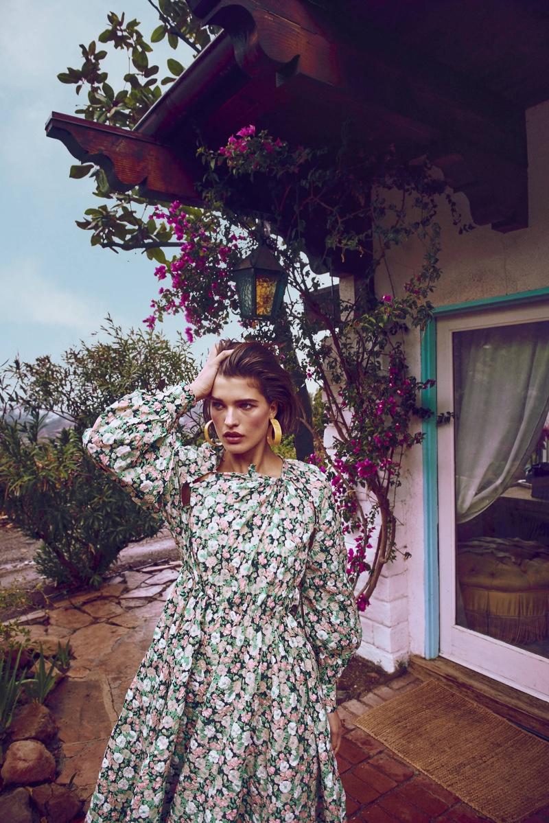 Julia Van Os Poses in Romantic Looks for Harper's Bazaar Germany
