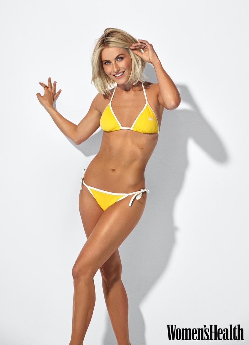 Julianne Hough shines in yellow bikini.