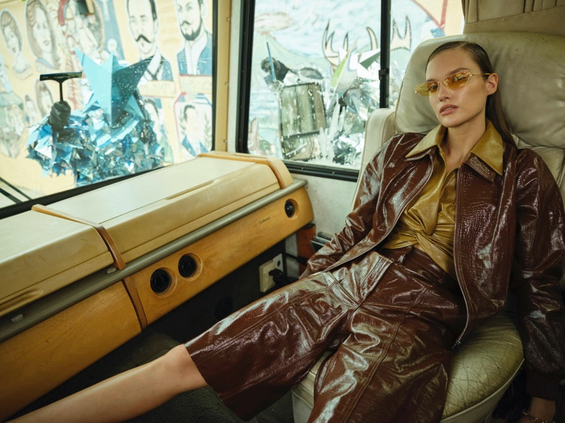 Kinga Trojan Takes On Daring Looks for InStyle Germany