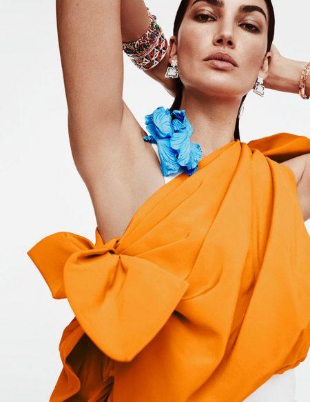 Lily Aldridge Shines in Bulgari Jewelry for Harper's Bazaar Spain