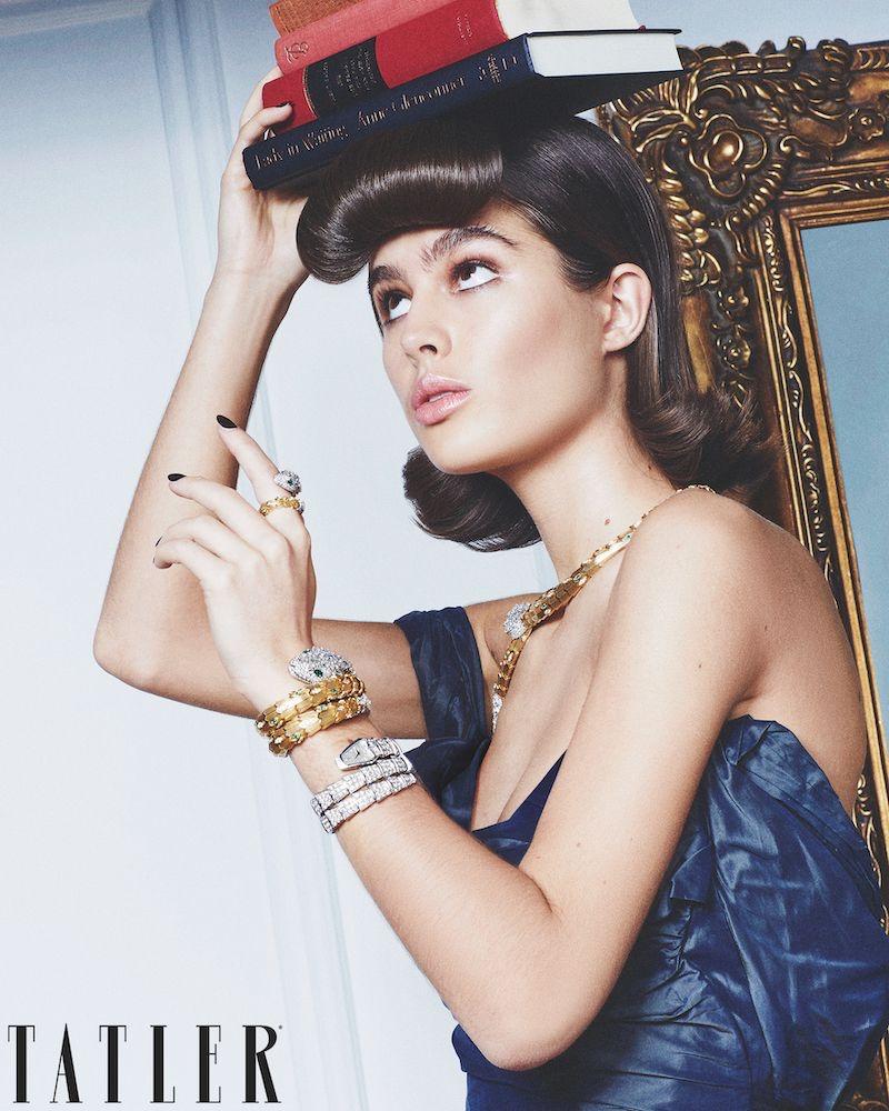 Lily Jean Harvey Looks Regal in Gems for Tatler
