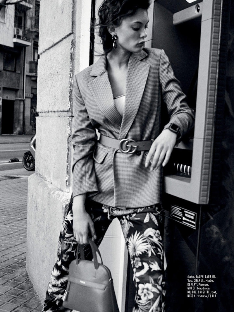 Liza Adamenko Wears Cool Girl Looks for ELLE Croatia