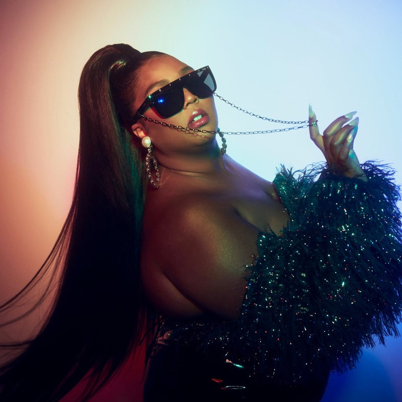 Singer Lizzo collaborates with Quay Australia on Jaded sunglasses.