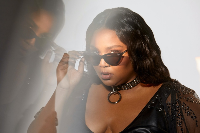 Lizzo shows off Quay Australia collaboration.