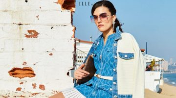 Mariona Borrell Models Denim Beach Styles for ELLE Vietnam