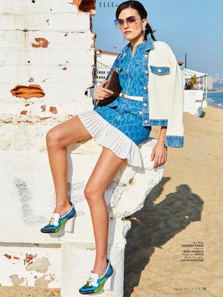 Mariona Borrell Models Denim Beach Styles for ELLE Vietnam