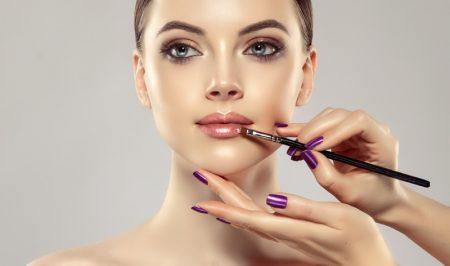 Model Makeup Lips Hands Artist Beauty