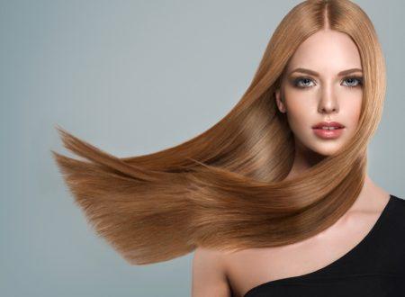 Model Sleek Long Straight Hair