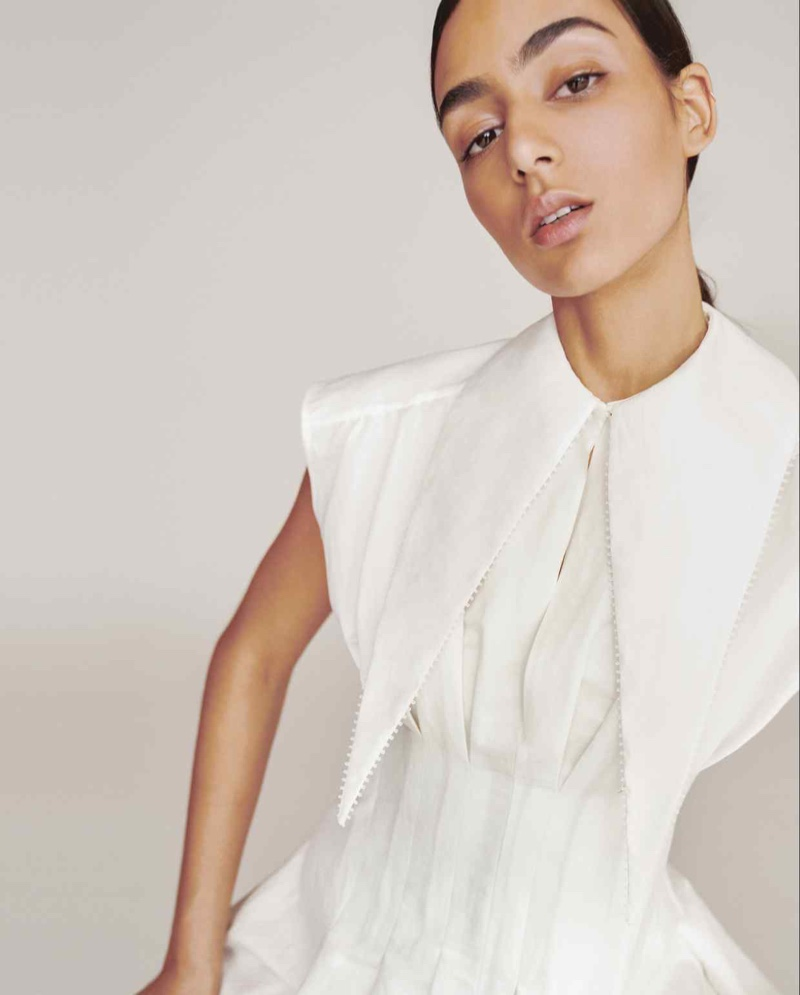 Nora Attal Models Ivory Fashions for How to Spend It