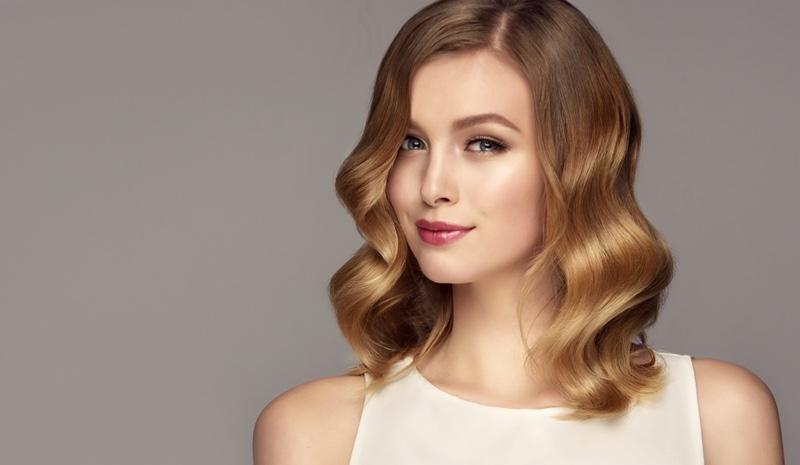 Ombre Hair Wavy Lob Blonde Brown