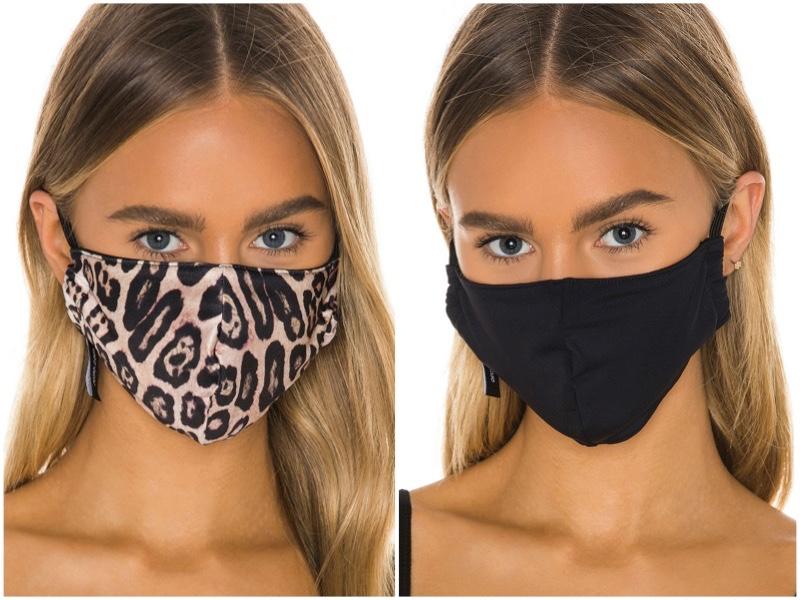 Onzie 2 Pack Protective Face Masks in Leopard/Black $24