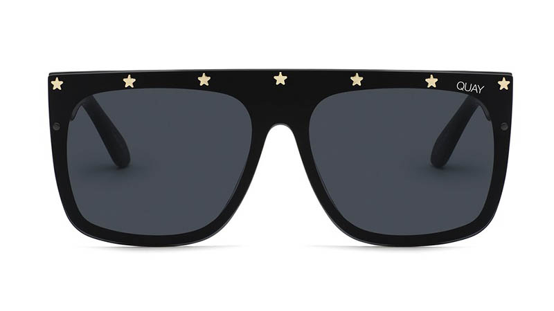 Quay x Lizzo Jaded Sunglasses in BLKGLD/SMK $65