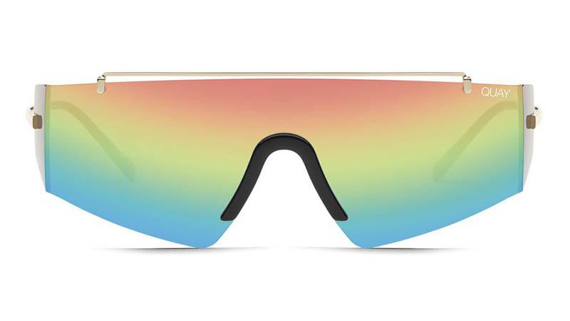 Quay x Lizzo Transcend Sunglasses in GLD/RNBW $65