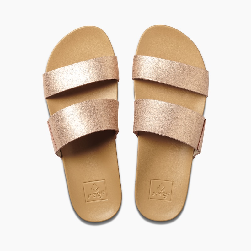 Reef Cushion Vista Sandals in Rose Gold $45