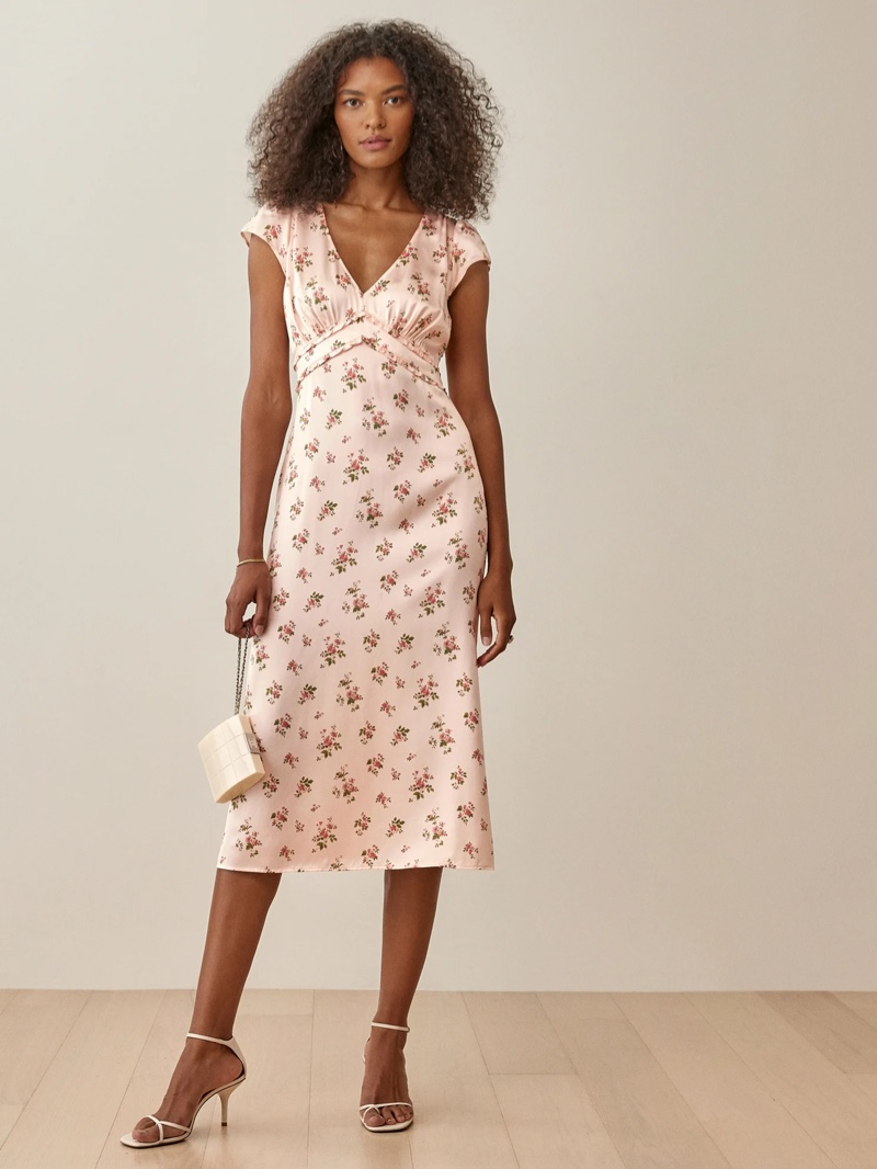 Reformation Kaye Dress in Audrey $278