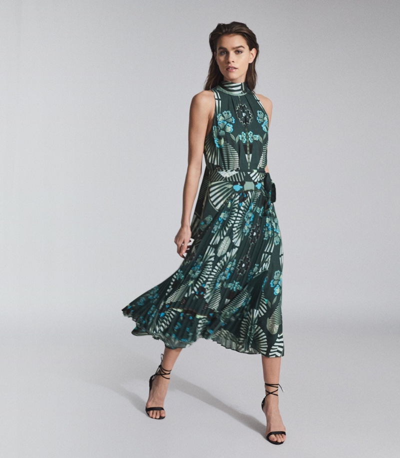 Reiss Eddie Printed Midi Dress $465