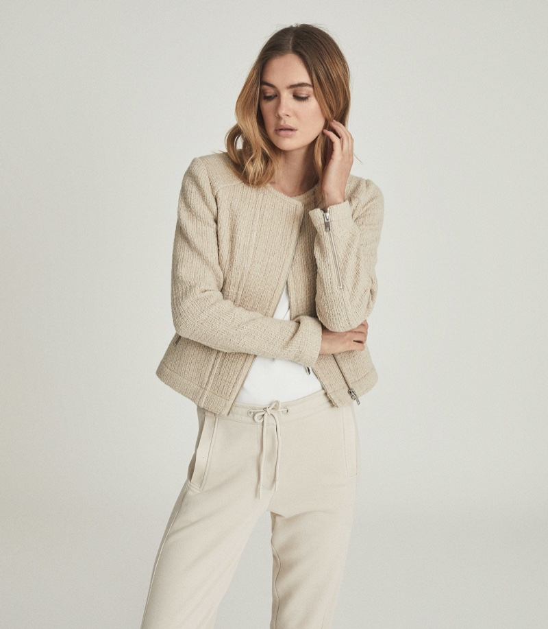 Reiss Essie Cropped Boucle Jacket $495