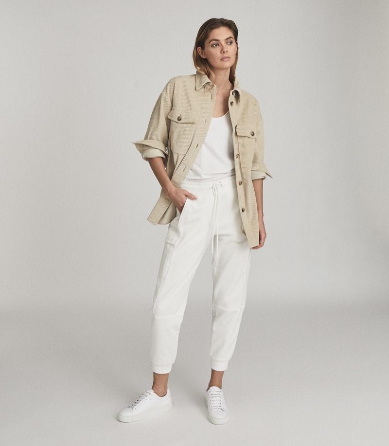 Reiss Esme Relaxed Corduroy Overshirt $245