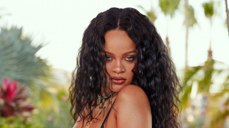 Rihanna stars in Savage x Adam Selman Neon Nights campaign.