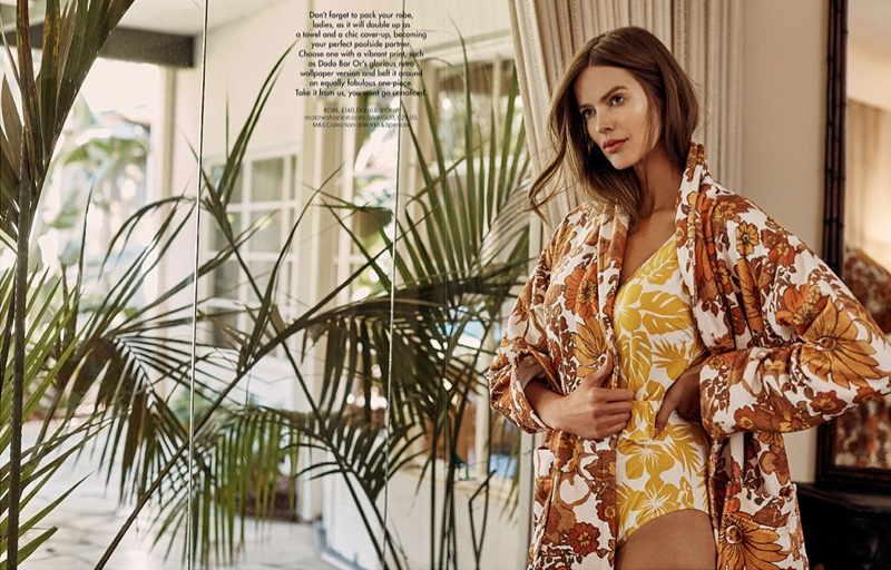 Robyn Lawley Models Elegant Summer Styles for Red UK