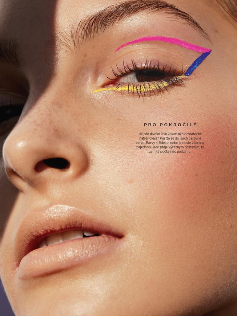 Rosa Turk Wears Sun-Kissed Beauty for Harper's Bazaar Czech