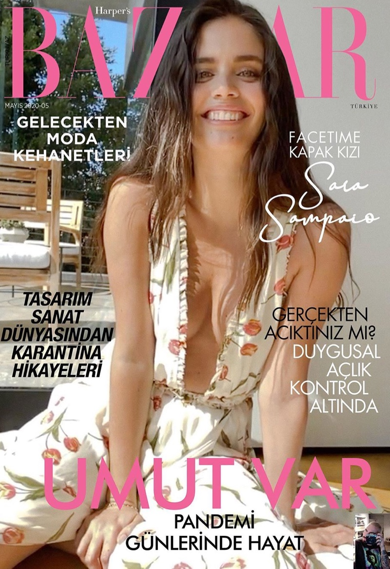 Sara Sampaio Poses Over FaceTime for Harper's Bazaar Turkey