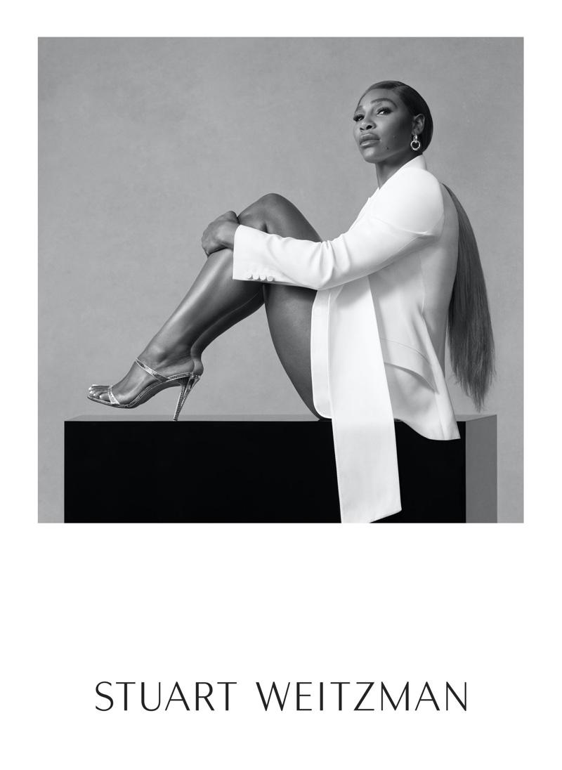 Serena Williams stars in Stuart Weitzman spring-summer 2020 campaign.