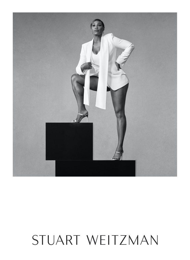 Tennis star Serena Williams poses for Stuart Weitzman spring-summer 2020 campaign.