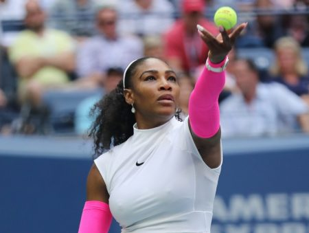Serena Williams at US Open 2016 match.