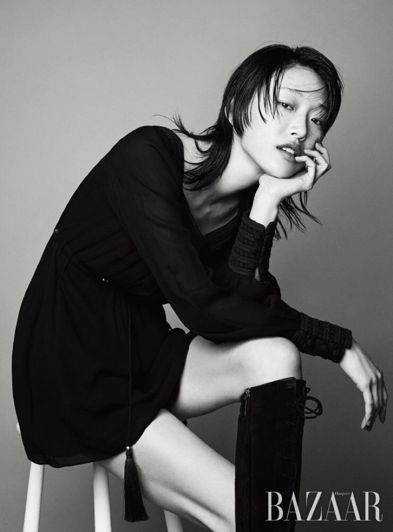 Sora Choi Goes Glam in Saint Laurent for Harper's Bazaar Korea