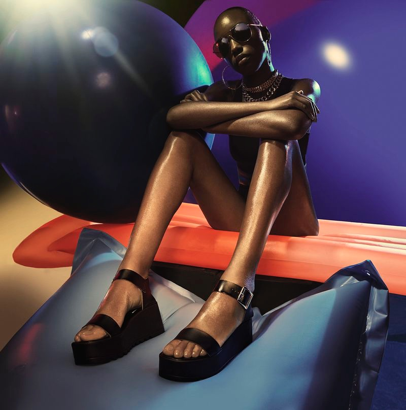 A photo from Steve Madden's summer 2020 campaign.