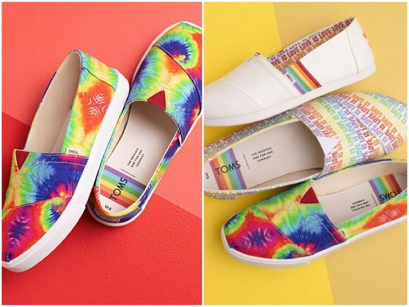 Toms UNITY Pride shoes collection.