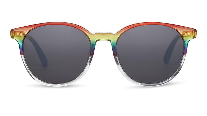 Toms UNITY Bellini Rainbow Gradient Sunglasses with Indigo Lenses $149.95