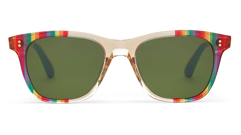 Toms UNITY Fitzpatrick Rainbow Striped Sunglasses $149.95