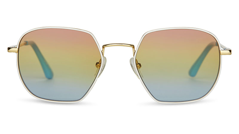 Toms UNITY Sawyer Sunglasses in Yellow Gold & White $149.95