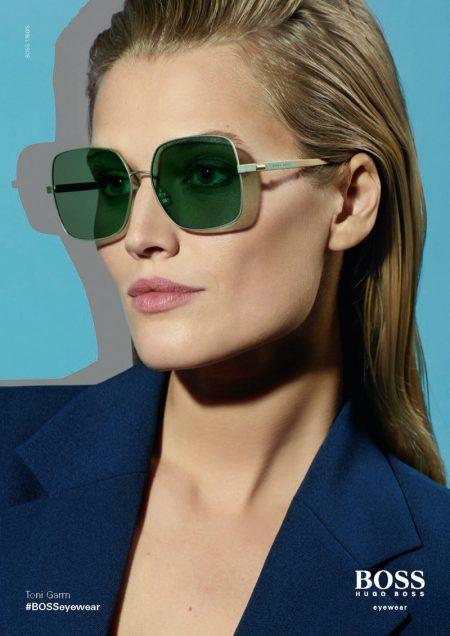 Toni Garrn appears in BOSS Eyewear spring-summer 2020 campaign.