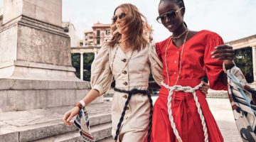 Natalia Vodianova and Anok Yai star in Tory Burch spring-summer 2020 campaign.