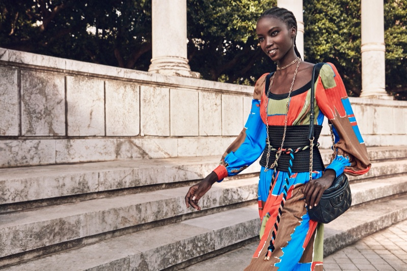 Anok Yai fronts Tory Burch spring-summer 2020 campaign.