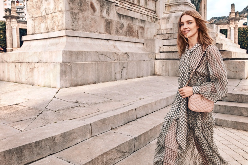Natalia Vodianova is all smiles in Tory Burch spring-summer 2020 campaign.