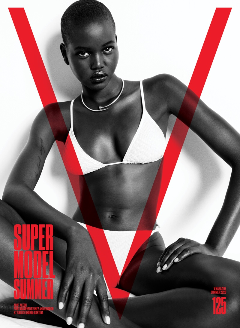Adut Akech on V Magazine #125 Cover. Photo: Inez & Vinoodh