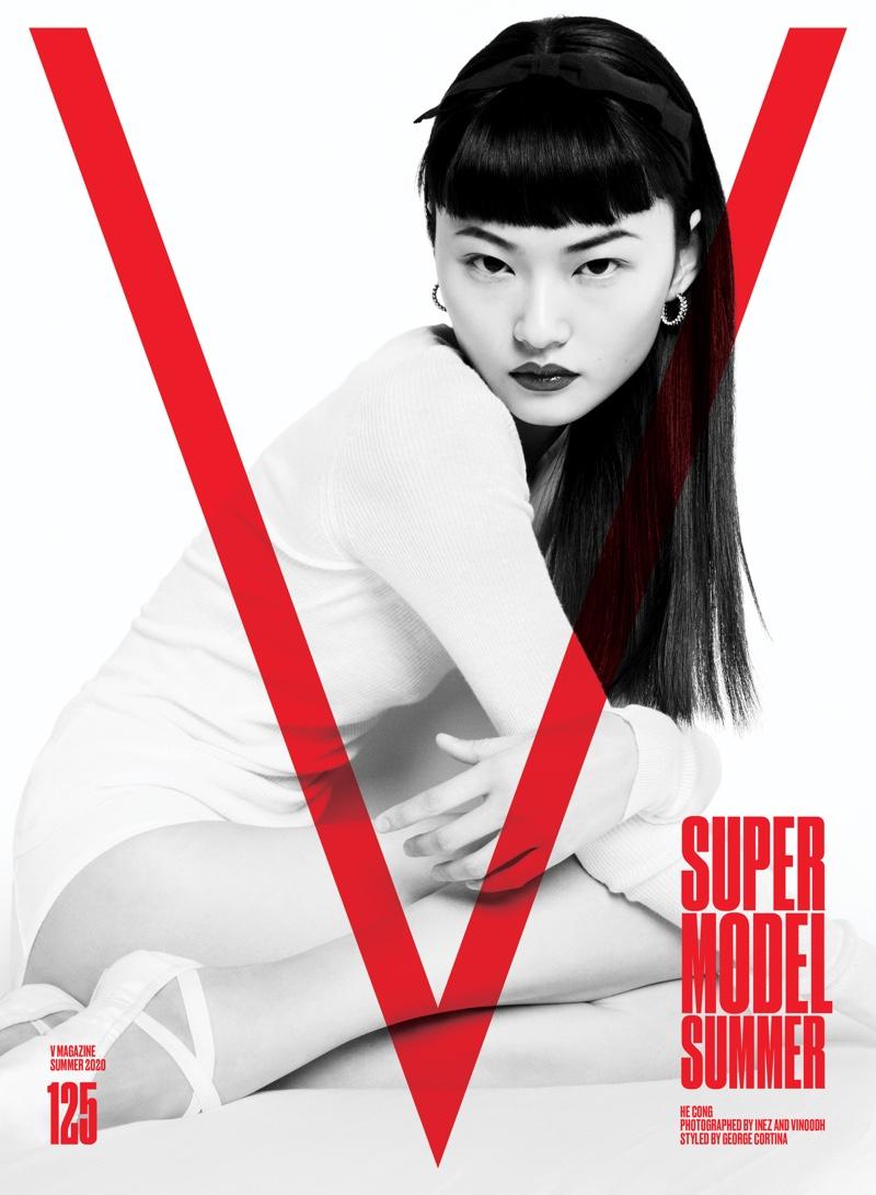 He Cong on V Magazine #125 Cover. Photo: Inez & Vinoodh