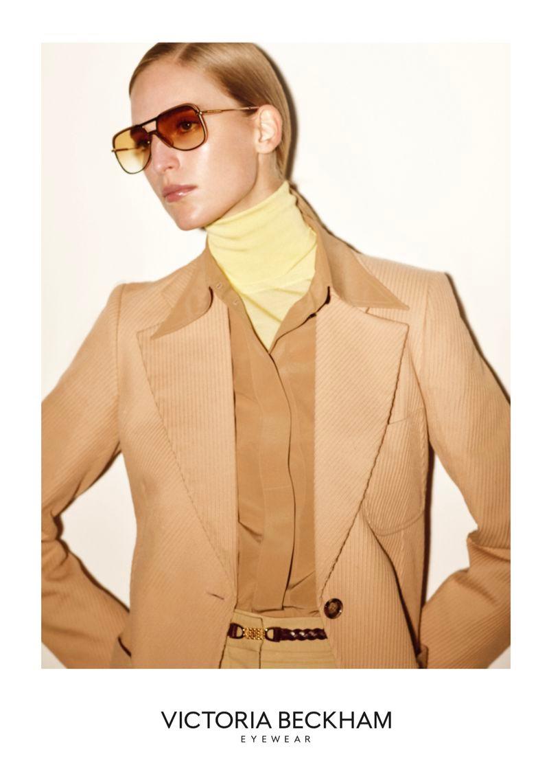 Vanessa Axente strikes a pose in Victoria Beckham Eyewear spring-summer 2020 campaign.